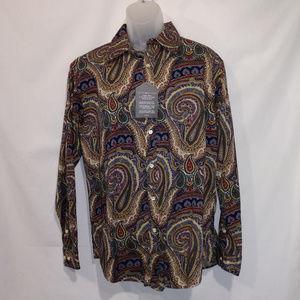 Tommy Hilfiger Paisley Vintage Fit Men's sz L, NWT